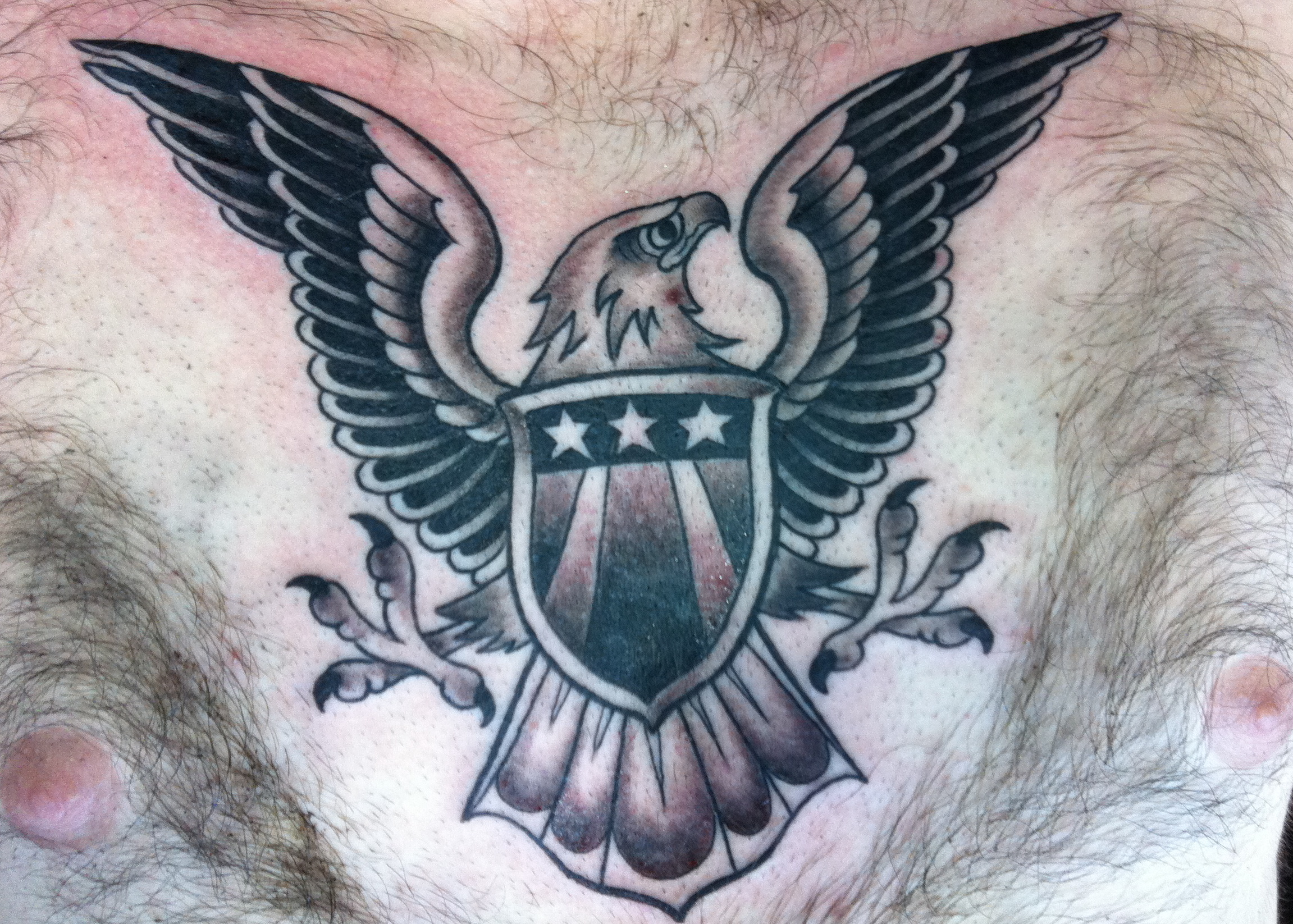 I tattooed this eagle at the